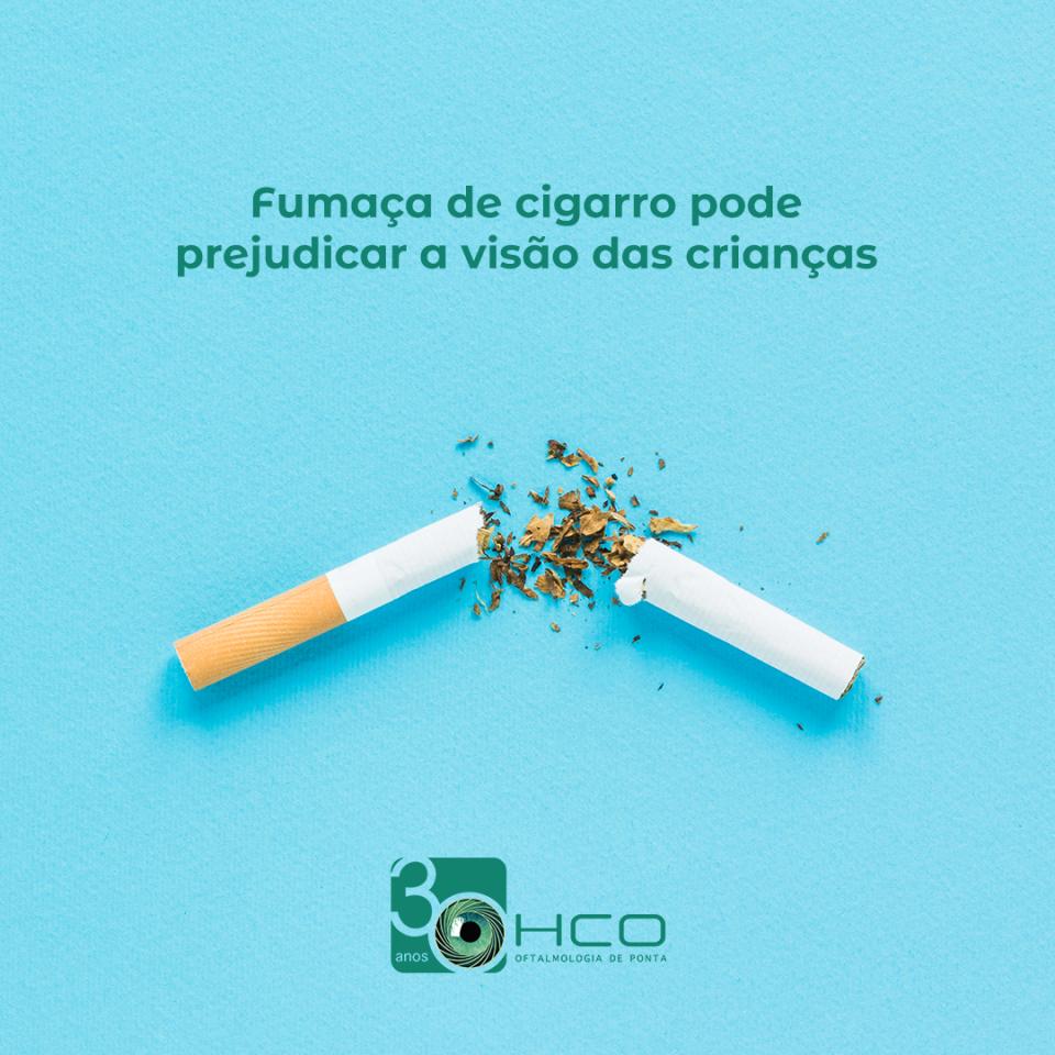 Fumaça de cigarro pode prejudicar a visão das crianças