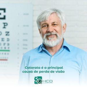 Catarata é a principal causa de perda de visão