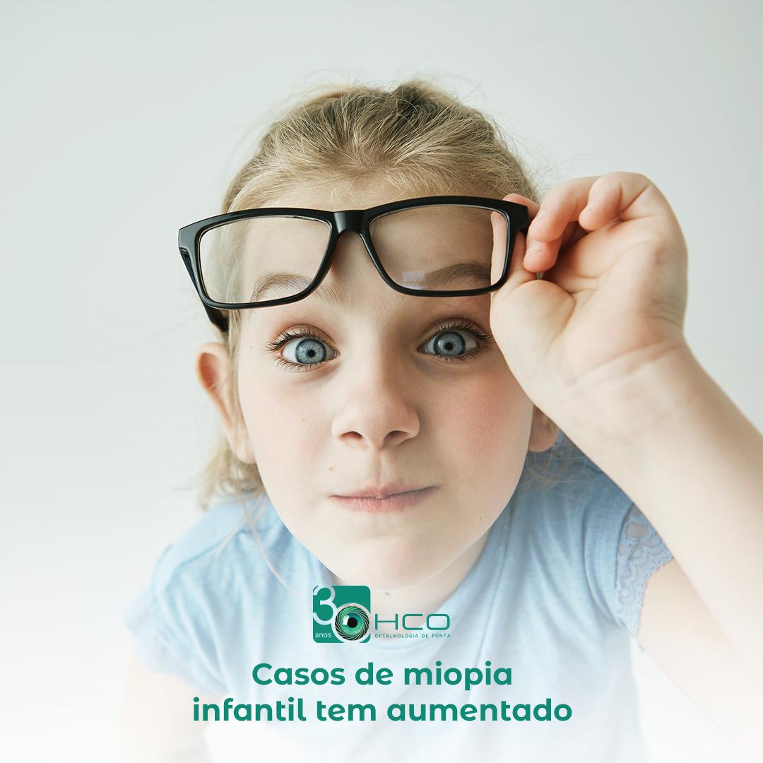 Casos de miopia infantil tem aumentado