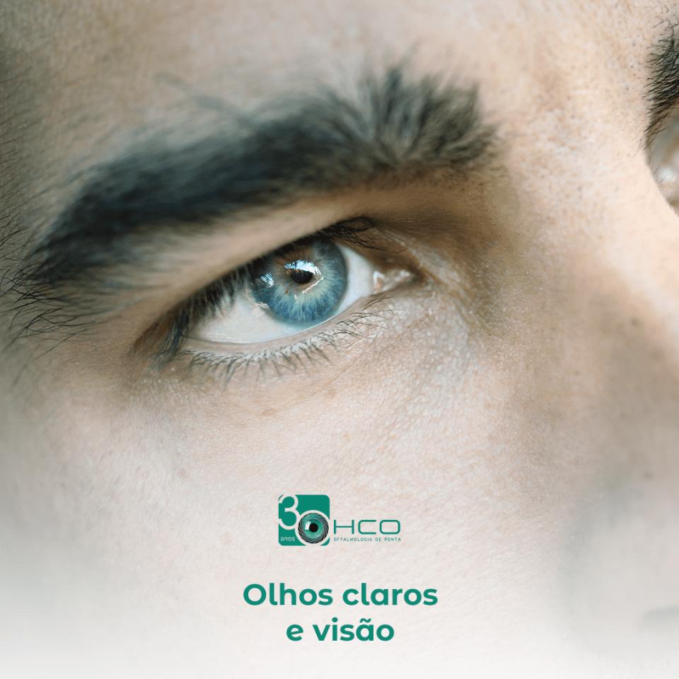 Olhos claros e visão
