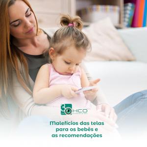 Malefícios das telas para os bebês e as recomendações