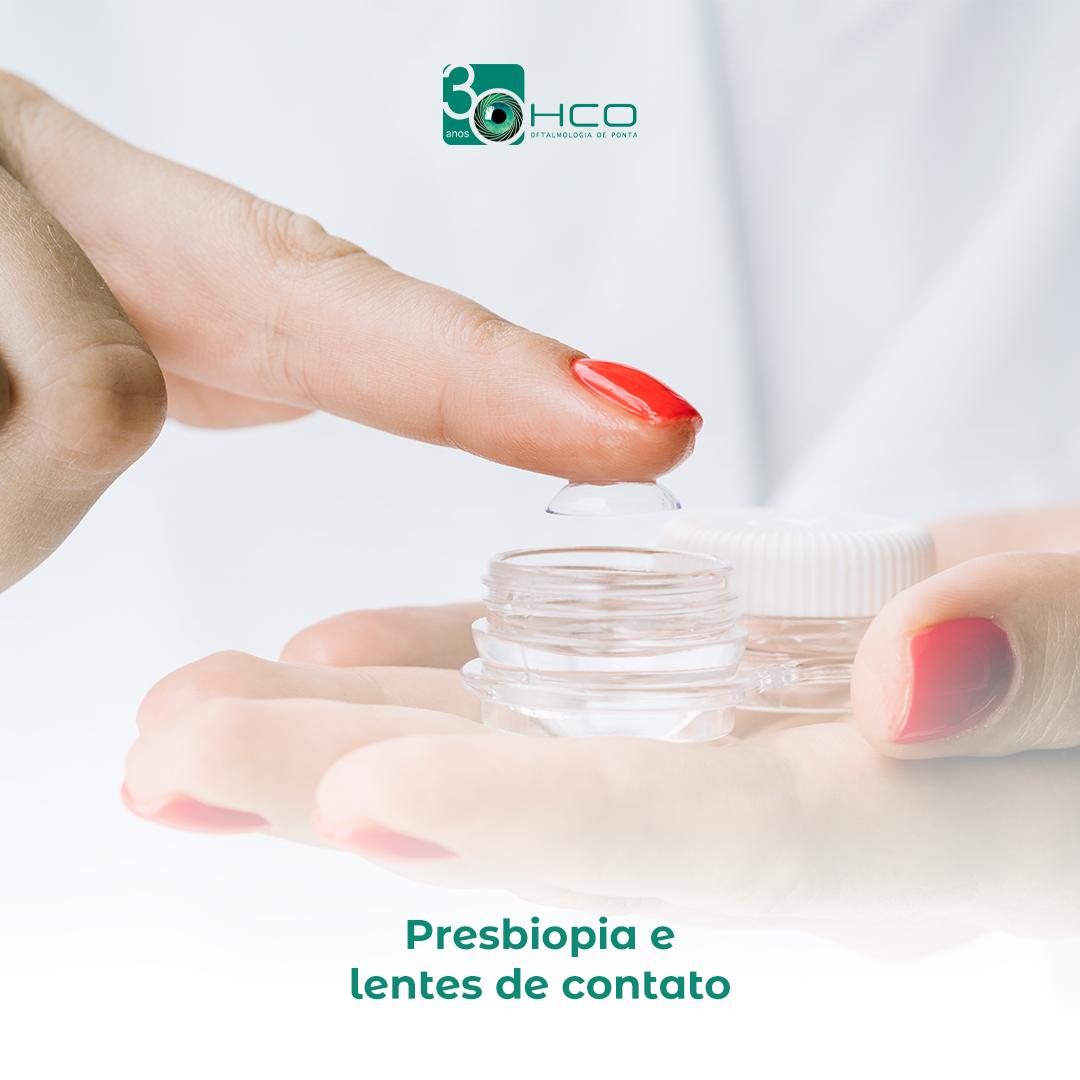Presbiopia e lentes de contato