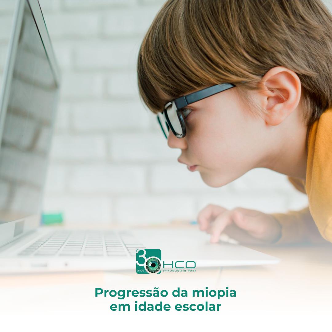Progressão da miopia nas crianças em idade escolar