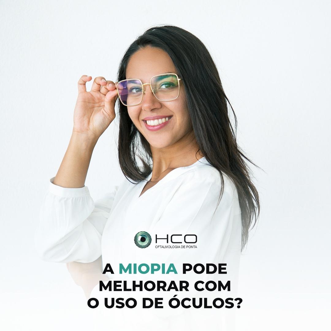A miopia pode melhorar com uso de óculos?