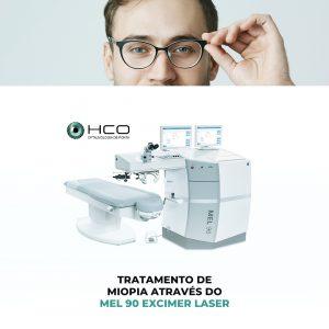 Tratamento de Miopia através do Mel 90 Excimer laser